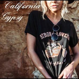 BYRON IS FOR LOVERS Gypsy vintage motorcycle tee